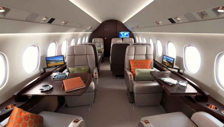Dassault Falcon 2000 lxs - interior
