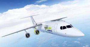 Electric plane Airbus Siemens Rolls-Royce