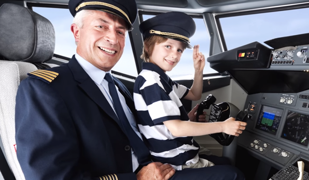 Pilot's son in charge