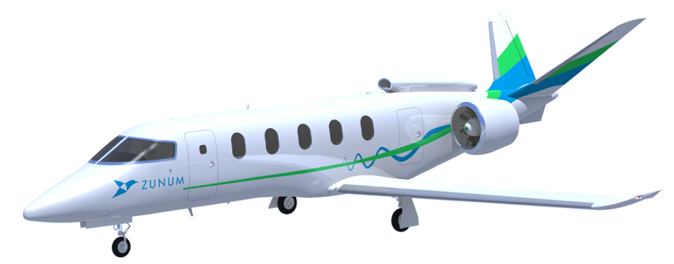 Zunum Aero hybrid airplane