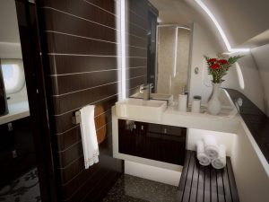 Embraer Lineage 1000e - bathroom