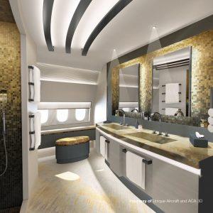Unique Aircraft Design - bathroom