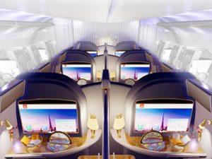 Emirates 1st class cabin