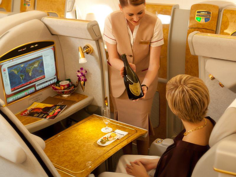 Emirates 1st class - courtesy of Emirates