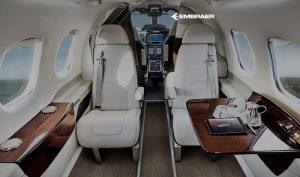 Embraer Phenom 100 cabin - Photo Embraer