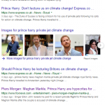 Google search: Prince-Harry and Megan Markle on private jet