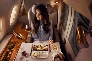 First class Emirates airlines