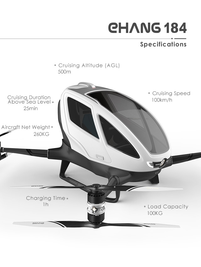 EHang 184 specifications