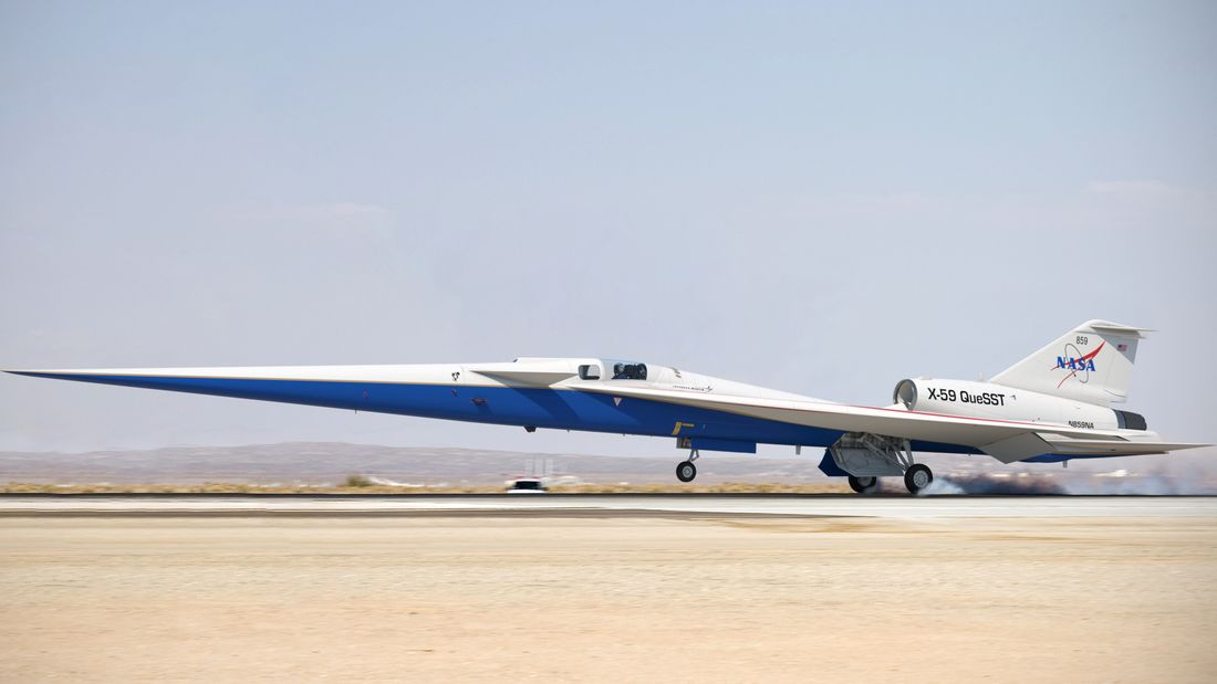 The X-59 QueSST (Quiet SuperSonic Technology) by Lockheed Martin - courtesy Lockheed Martin