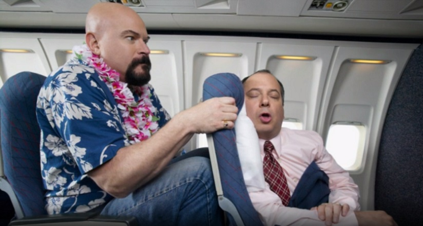 Uncomfortable flight