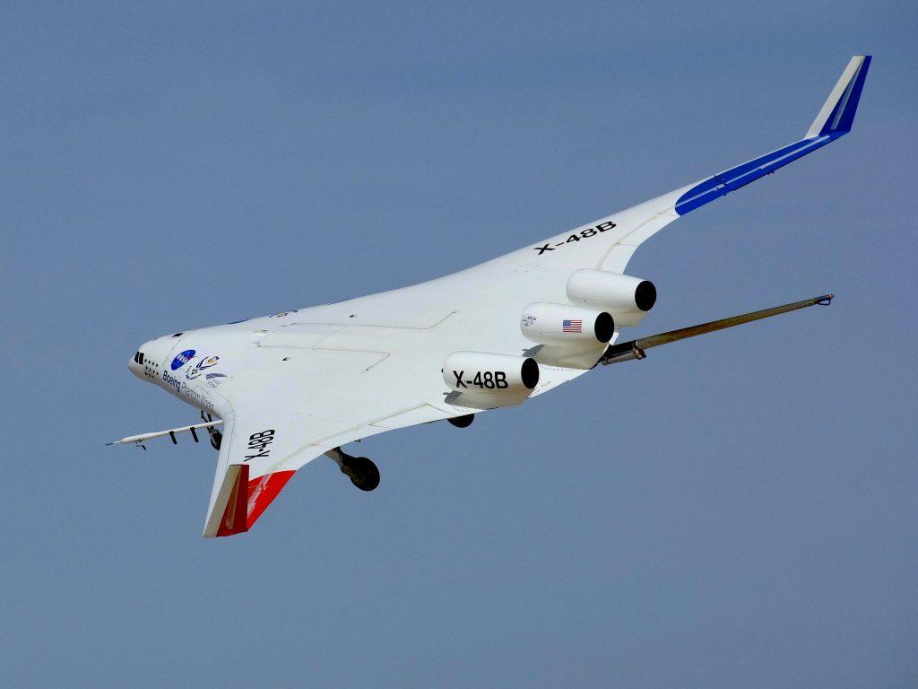Boeing X-48B - photo by NASA