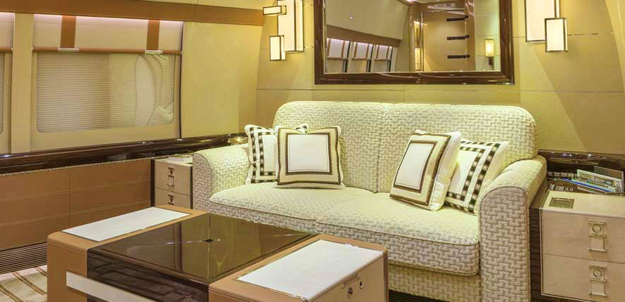 Boeing BBJ 747-8 by Cabinet Alberto Pinto – confortable couches