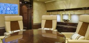 Boeing BBJ 747-8 by Cabinet AlbertoPinto - conference room