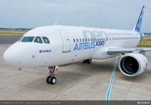 First A320neo to fly