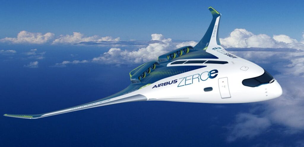 Airbus zero emissions flying wing