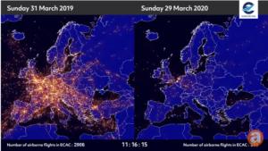 YoY air traffic diminution on March 31 - 2020