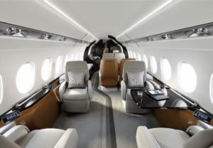 Falcon 6X - Photo courtesy Dassault- seats