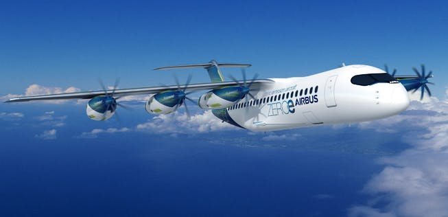Latest Airbus hydrogen airplane concept