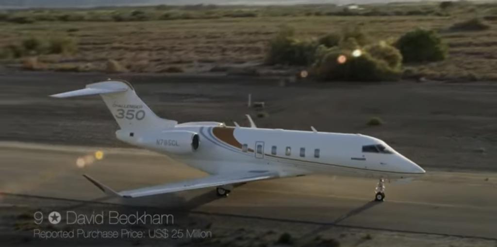Bombardier Challenger 350 - David Beckham