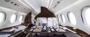Falcon 7X Wide body cabin