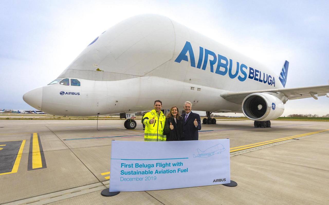 Airbus Beluga using biofuel