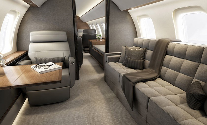 Global 8000 personal space - courtesy Bombardier