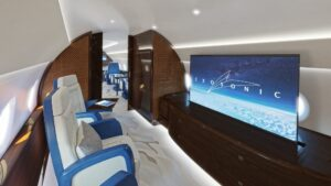 The interior of Exosonic's Air Force 2